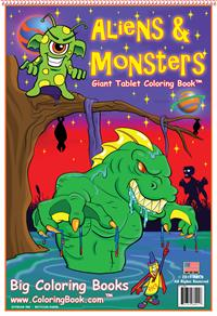Giant Aliens and Monsters Coloring Book