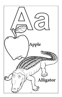 Learn My Alphabet Coloring Book - A