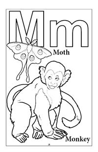 Learn My Alphabet Coloring Book - M
