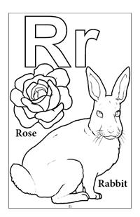 Learn My Alphabet Coloring Book - R