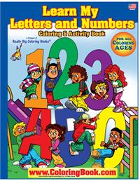 ABC-123 Learn My Letter and Numbers Really Big Coloring Book