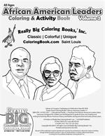 African American Leaders Power Panel Coloring Book vol. 2 - inside cover