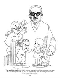 Thurgood Marshall Coloring Page