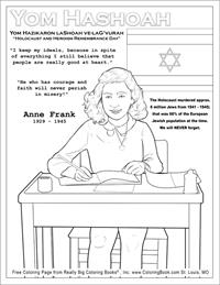 Holocaust and Heroism Remembrance Day - Anne Frank