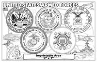 United States Armed Forces Imprintable Colorable Placemat