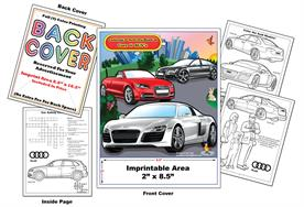 Audi Imprintable Coloring Books