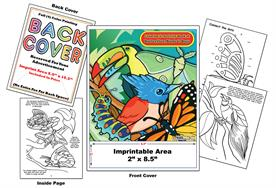 Butterflies, Birds & Bugs - Imprintable Coloring & Activity Book