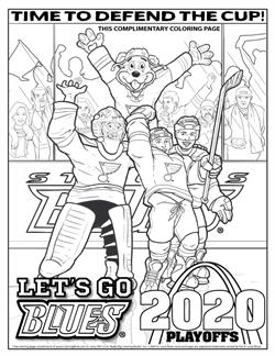 St. Louis Blues Playoffs - Free Online Coloring Pages