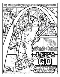 St. Louis Blues Quest for the Cup - Free Online Coloring Pages