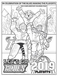 St. Louis Blues Playoffs complimentary coloring page
