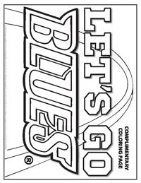 Let's Go Blues Playoffs complimentary coloring page