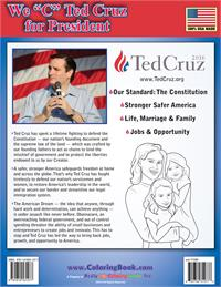 "We ""C"" Ted Cruz for President Coloring Book - back"