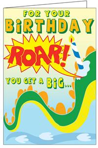 Birthday Monster Really Big Greeting Card