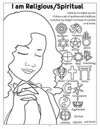 I am Religious-Spiritual Coloring Page
