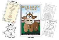 Bourbon Steak - Nashville Kid's Coloring and Activity Menu