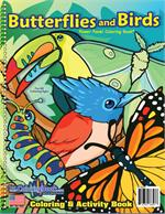 Butterflies and Birds Power Panel Coloring Book