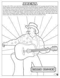 Country and Western Coloring Book - Arena