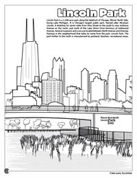 Chicago Coloring Book - Lincoln Park