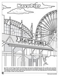 Chicago Coloring Book - Navy Pier
