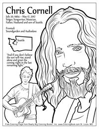 Chris Cornell - Free Online Coloring Pages