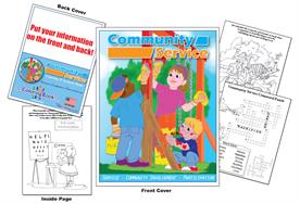 Community Service - Imprintable Coloring & Activity Book