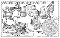 Construction Coloring Imprintable Colorable Placemat