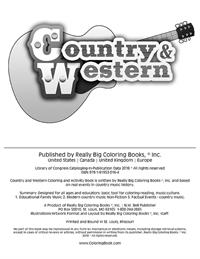 Country and Western Coloring and Activity Book - inside cover