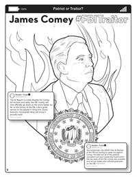 Covfefe - Patriot or Traitor - Comic Coloring Book - Comey