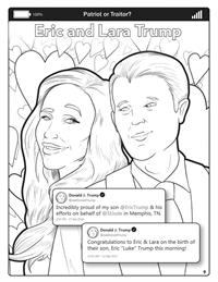 Covfefe - Patriot or Traitor - Comic Coloring Book - Eric Lara Trump