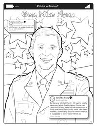 Covfefe - Patriot or Traitor - Comic Coloring Book - Flynn
