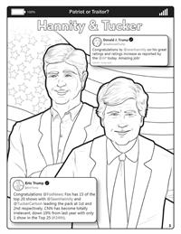 Covfefe - Patriot or Traitor - Comic Coloring Book - Hannity Tucker