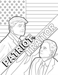 Covfefe - Patriot or Traitor - Comic Coloring Book - IBC
