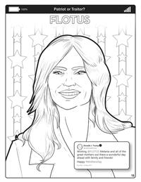 Covfefe - Patriot or Traitor - Comic Coloring Book - FLOTUS