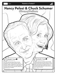 Covfefe - Patriot or Traitor - Comic Coloring Book - Pelosi - Schumer