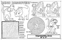 Dino Discovery Imprintable Colorable Placemat with