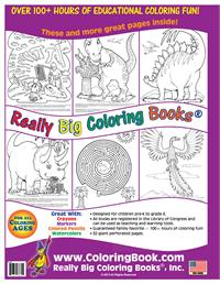 Dinosaurs Really Big Coloring Book - back cover