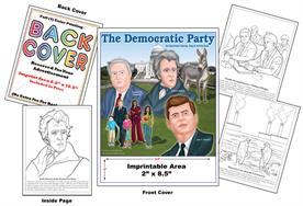 Democrat - Imprintable Coloring & Activity Book