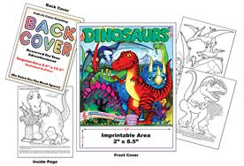 Dinosaurs - Imprintable Coloring & Activity Book with Song