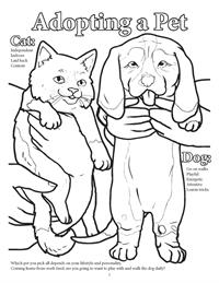 Dogs and Cats Coloring Book - Adopting a Pet