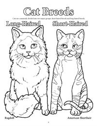 Dogs and Cats Coloring Book - Cat Breeds