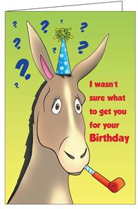 Birthday Donkey Really Big Greeting Card