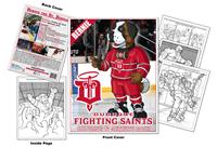 Dubuque Fighting Saints Custom Hockey Coloring Book