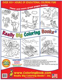 The Early Years Really Big Giant Coloring Book back cover