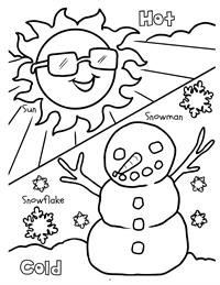 Early Years Really Big Coloring Book - hot - cold
