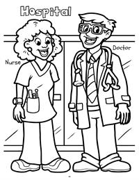 Early Years Really Big Coloring Book - doctor - nurse