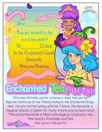 Enchanted Tea Party with Friends Coloring Book back cover