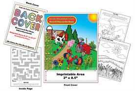 Food and Fun on the Farm - Imprintable Coloring & Activity Book