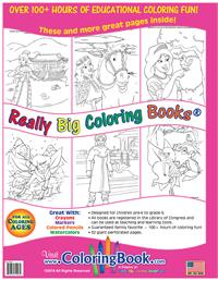 Fairies and Princesses Really Big Coloring Book back cover