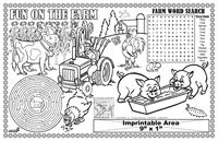 Fun on the Farm Imprintable Colorable Placemat