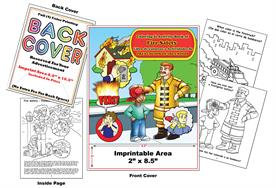 Libro de Colorear y Actividades de PREVENCION DE INCENDIOS Fire Safety Imprintable